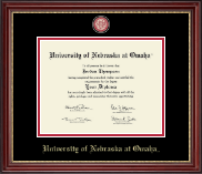 University of  Nebraska Omaha Diploma Frame - Masterpiece Medallion Diploma Frame in Kensington Gold