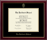 The Juilliard School Diploma Frame - Gold Embossed Diploma Frame in Gallery