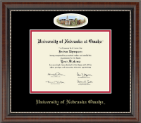 University of  Nebraska Omaha Diploma Frame - Campus Cameo Diploma Frame in Chateau