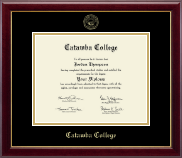 Catawba College Diploma Frame - Gold Embossed Diploma Frame in Gallery