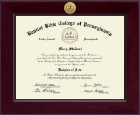 Baptist Bible College and Seminary Diploma Frame - Century Gold Engraved Diploma Frame in Cordova