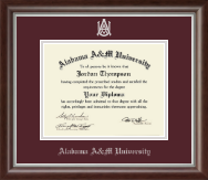 Alabama A & M University Diploma Frame - Silver Embossed Diploma Frame in Devonshire