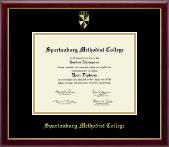 Spartanburg Methodist College Diploma Frame - Gold Embossed Diploma Frame in Galleria