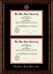 The Ohio State University Diploma Frame - Silver Embossed Double Diploma Frame in Ridgewood