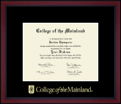 College of the Mainland Diploma Frame - Gold Embossed Achievement Academy Diploma Frame in Academy