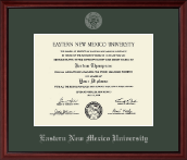 Eastern New Mexico University Diploma Frame - Silver Embossed Diploma Frame in Camby
