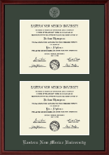 Eastern New Mexico University Diploma Frame - Double Diploma Frame in Camby