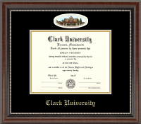 Clark University Diploma Frame - Campus Cameo Diploma Frame in Chateau