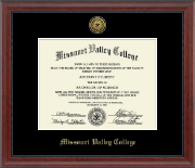 Missouri Valley College Diploma Frame - Gold Engraved Medallion Diploma Frame in Signature