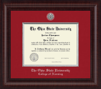 The Ohio State University Diploma Frame - Presidential Silver Engraved Diploma Frame in Premier