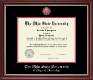 The Ohio State University Diploma Frame - Masterpiece Medallion Diploma Frame in Kensington Silver