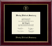 Wesley Biblical Seminary Diploma Frame - Gold Embossed Diploma Frame in Gallery