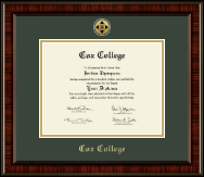 Cox College Diploma Frame - Gold Engraved Medallion Diploma Frame in Ridgewood