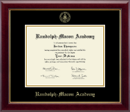 Randolph-Macon Academy Diploma Frame - Gold Embossed Diploma Frame in Gallery