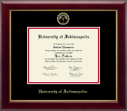 University of Indianapolis Diploma Frame - Gold Embossed Diploma Frame in Gallery