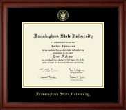 Framingham State University  Diploma Frame - Gold Embossed Diploma Frame in Cambridge