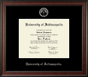 University of Indianapolis Diploma Frame - Silver Embossed Diploma Frame in Studio