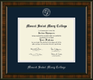 Mount Saint Mary College Diploma Frame - Silver Embossed Diploma Frame in Brentwood