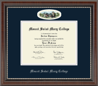 Mount Saint Mary College Diploma Frame - Campus Cameo Diploma Frame in Chateau