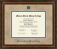 Mount Saint Mary College Diploma Frame - Heirloom Edition Diploma Frame in Ashford