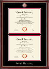 Cornell University Diploma Frame - Masterpiece Medallion Double Diploma Frame in Kensington Gold