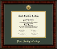 Paul Smith's College Diploma Frame - Gold Engraved Medallion Diploma Frame in Ridgewood