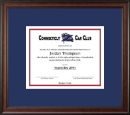 Connecticut Z Car Club Certificate Frame - Certificate Frame in Studio