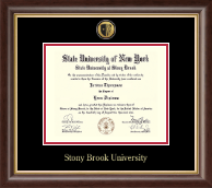 Stony Brook University Diploma Frame - Gold Engraved Medallion Diploma Frame in Hampshire