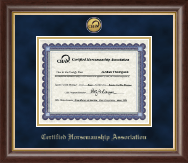 Certified Horsemanship Association Certificate Frame - Gold Engraved Medallion Certificate Frame in Hampshire