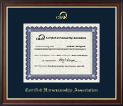 Certified Horsemanship Association Certificate Frame - Gold Embossed Certificate Frame in Studio Gold