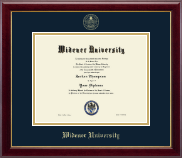 Widener University Diploma Frame - Gold Embossed Diploma Frame in Gallery