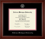 Indiana Wesleyan University  Diploma Frame - Silver Embossed Diploma Frame in Cambridge