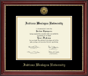 Indiana Wesleyan University  Diploma Frame - Gold Engraved Medallion Diploma Frame in Kensington Gold