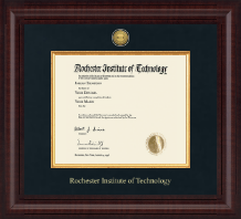 Rochester Institute of Technology Diploma Frame - Presidential Gold Engraved Diploma Frame in Premier