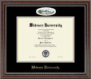 Widener University Diploma Frame - Campus Cameo Diploma Frame in Chateau