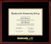 Hopkinsville Community College at Kentucky Diploma Frame - Gold Embossed Diploma Frame in Camby