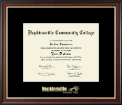 Hopkinsville Community College at Kentucky Diploma Frame - Gold Embossed Diploma Frame in Studio Gold