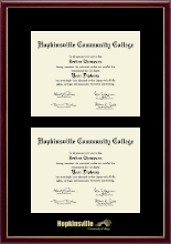 Hopkinsville Community College at Kentucky Diploma Frame - Double Diploma Frame in Galleria