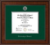 University of Hawaii at Manoa Diploma Frame - Presidential Silver Engraved Diploma Frame in Madison