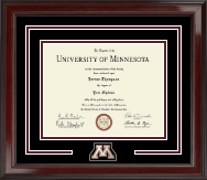 University of Minnesota Twin Cities Diploma Frame - Spirit Medallion Diploma Frame in Encore