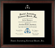 Dental Assisting National Board, Inc. Certificate Frame - Silver Embossed Certificate Frame in Studio