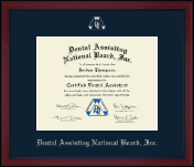 Dental Assisting National Board, Inc. Certificate Frame - Achievement Edition Certificate Frame in Academy