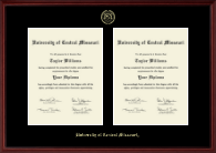 University of Central Missouri Diploma Frame - Double Document Diploma Frame in Camby