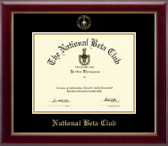 The National Beta Club Certificate Frame - Gold Embossed Certificate Frame in Gallery