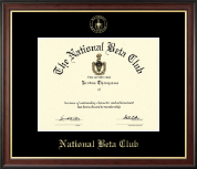 The National Beta Club Certificate Frame - Gold Embossed Certificate Frame in Studio Gold