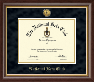 The National Beta Club Certificate Frame - Gold Engraved Medallion Certificate Frame in Hampshire
