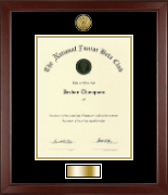 The National Junior Beta Club Certificate Frame - Gold Engraved Medallion Certificate Frame in Sierra