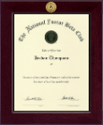 The National Junior Beta Club Certificate Frame - Century Gold Engraved Certificate Frame in Cordova