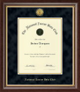 The National Junior Beta Club Certificate Frame - Gold Engraved Medallion Certificate Frame in Hampshire