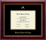 Black Hawk College Diploma Frame - Gold Embossed Diploma Frame in Gallery